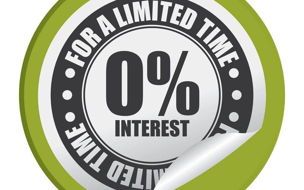 Zero Interest Credit Offers
